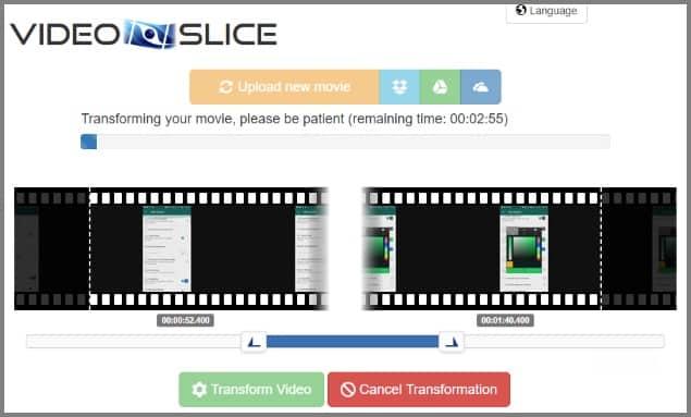 recortador de video slice
