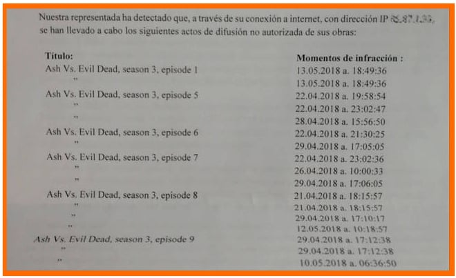 sancion por descargar una serie por torrent