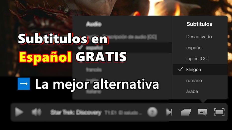 descargar subtitulos en español